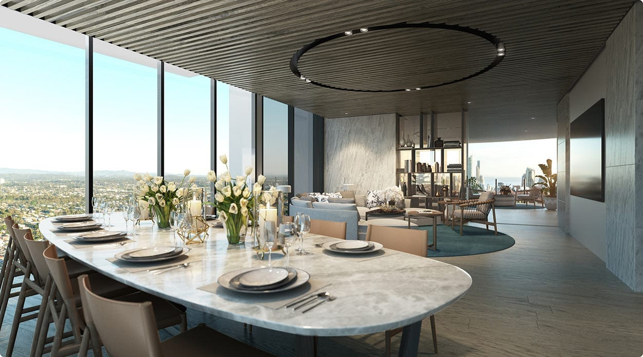 Shared dining room, just one of the many amenities at Star Epsilon Gold Coast
