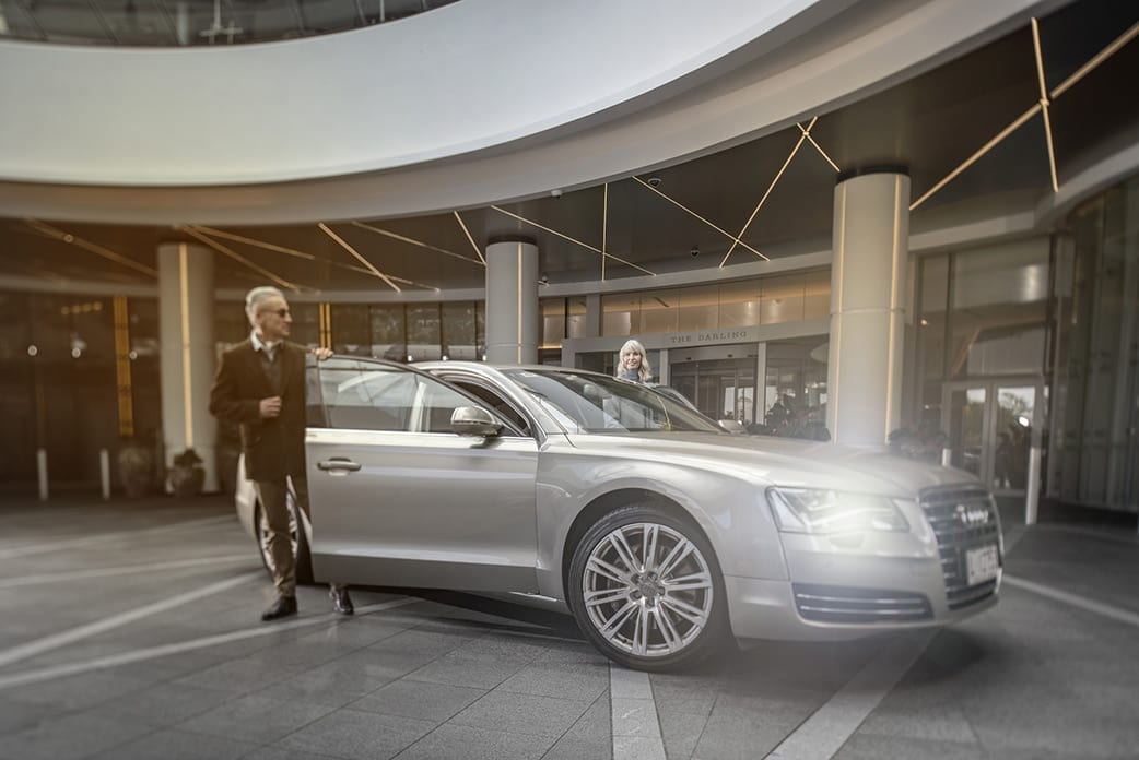Valet services are exclusive to residents.