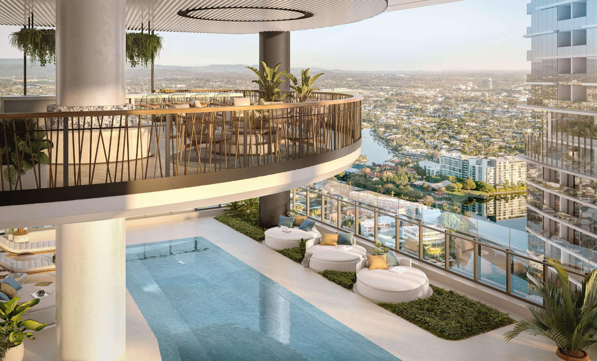 23.5 metre lap pool on level 20, available exclusively to residents.